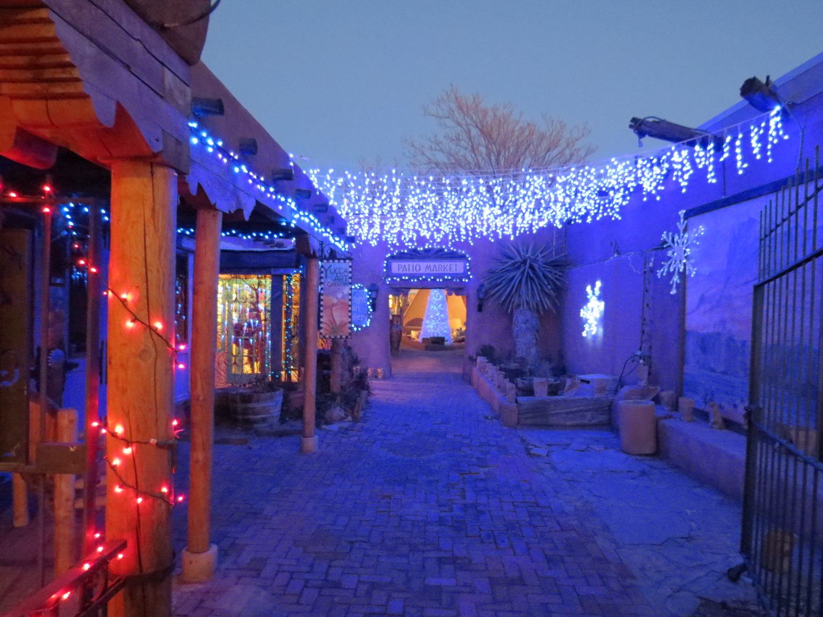 Christmas lights in Old Town, Albuquerque