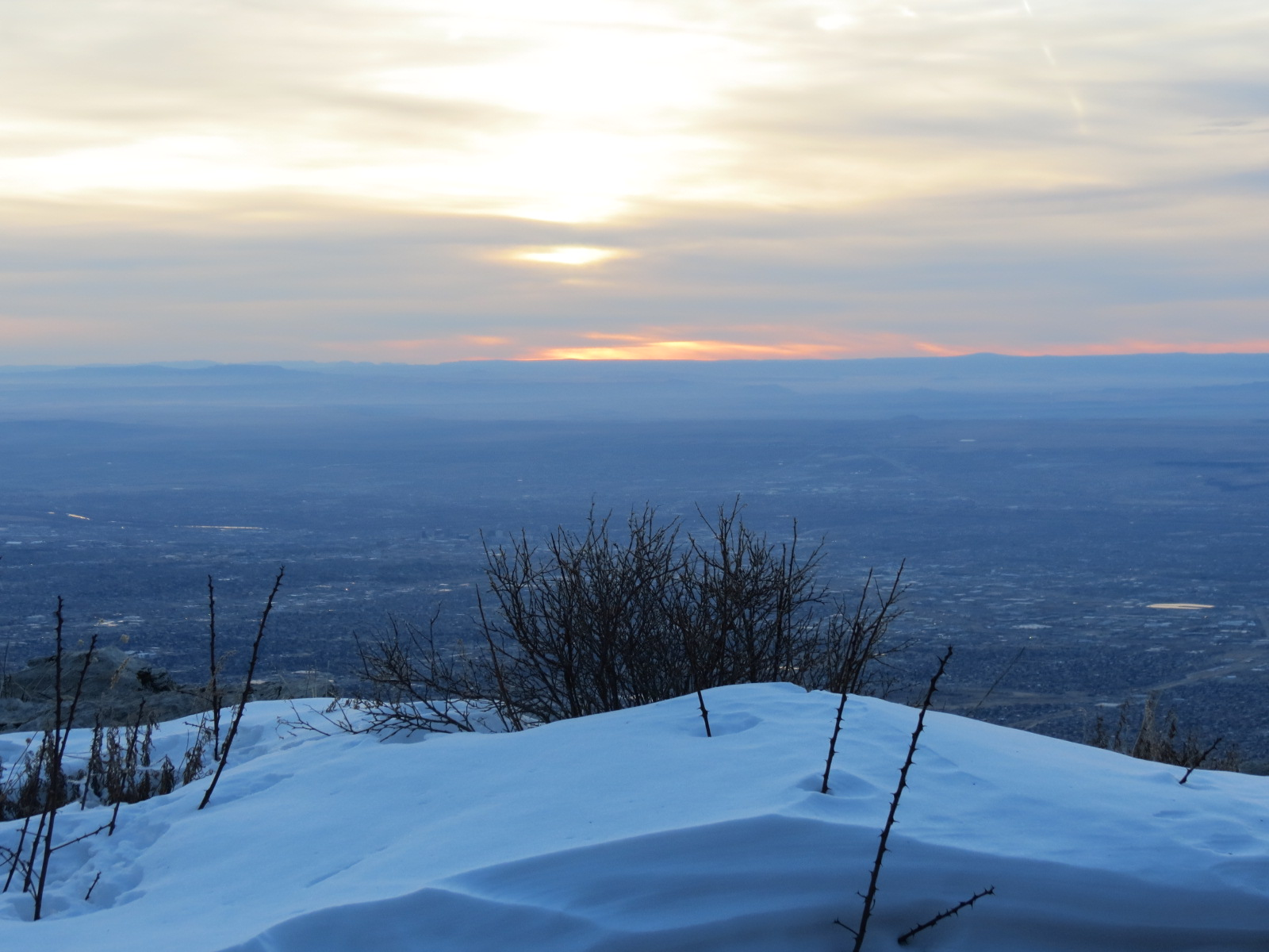 Sandia Mountain Sunset begins