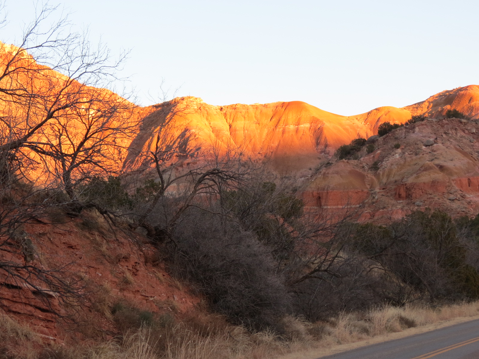 Sunset at Palo Duro Canyon