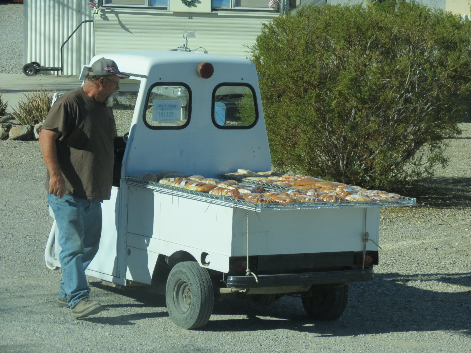 Bread Deliveryman at Scenic Road RV Park, Quartsite AZ