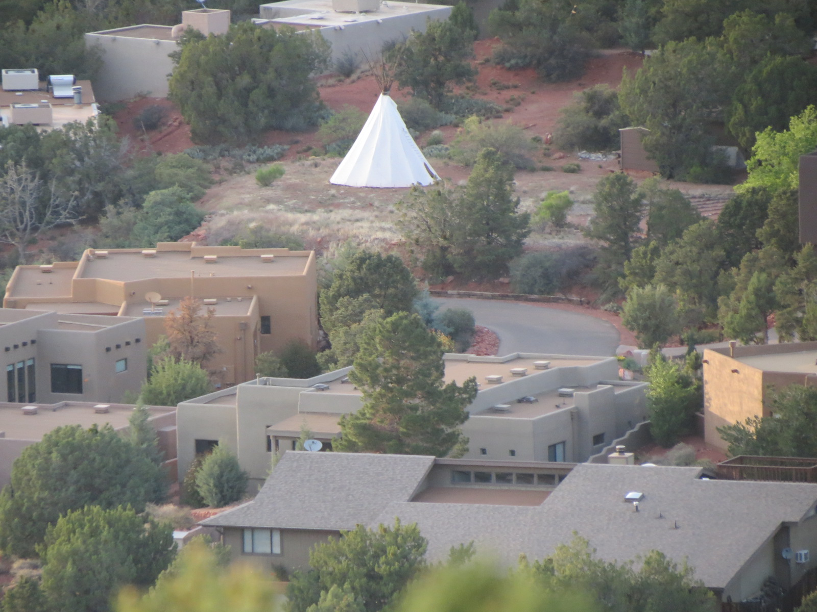 What's this Teepee doing in the middle of the subdivision?