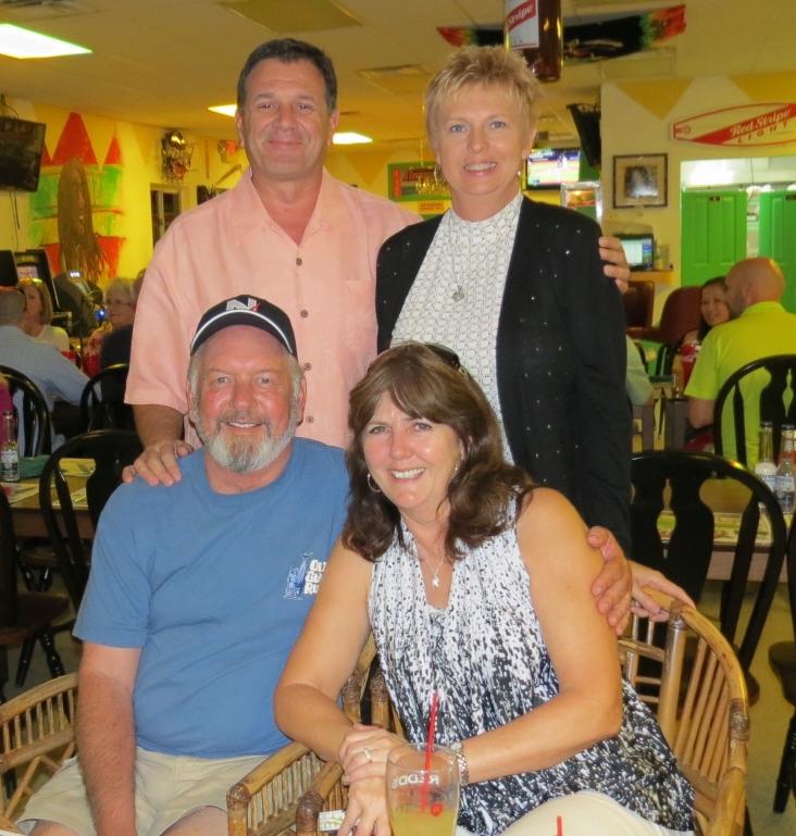 Lee, Carol, Dave & Linda, Celebrating Linda's Birthday