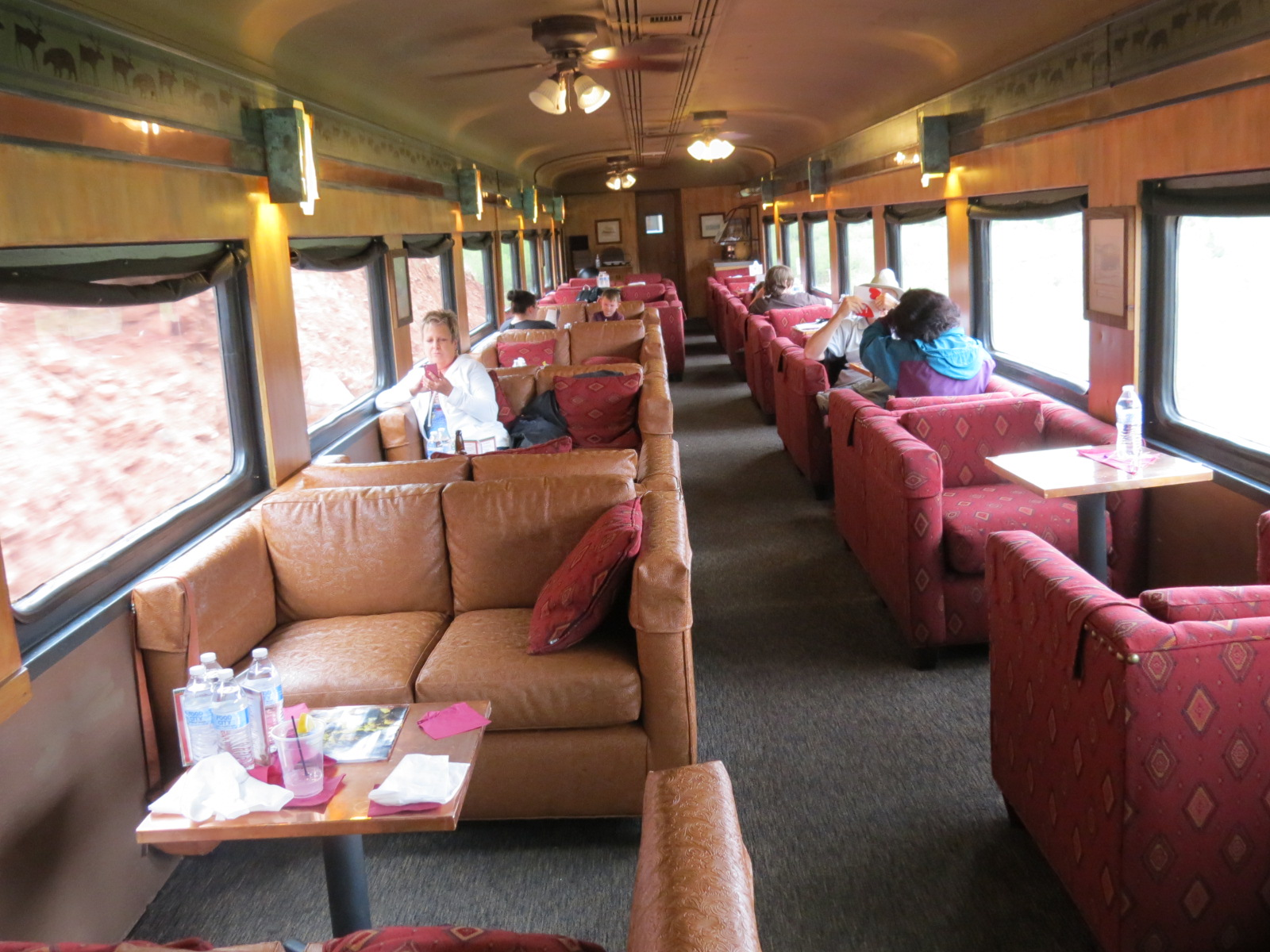 Inside our First Class car during the train trip