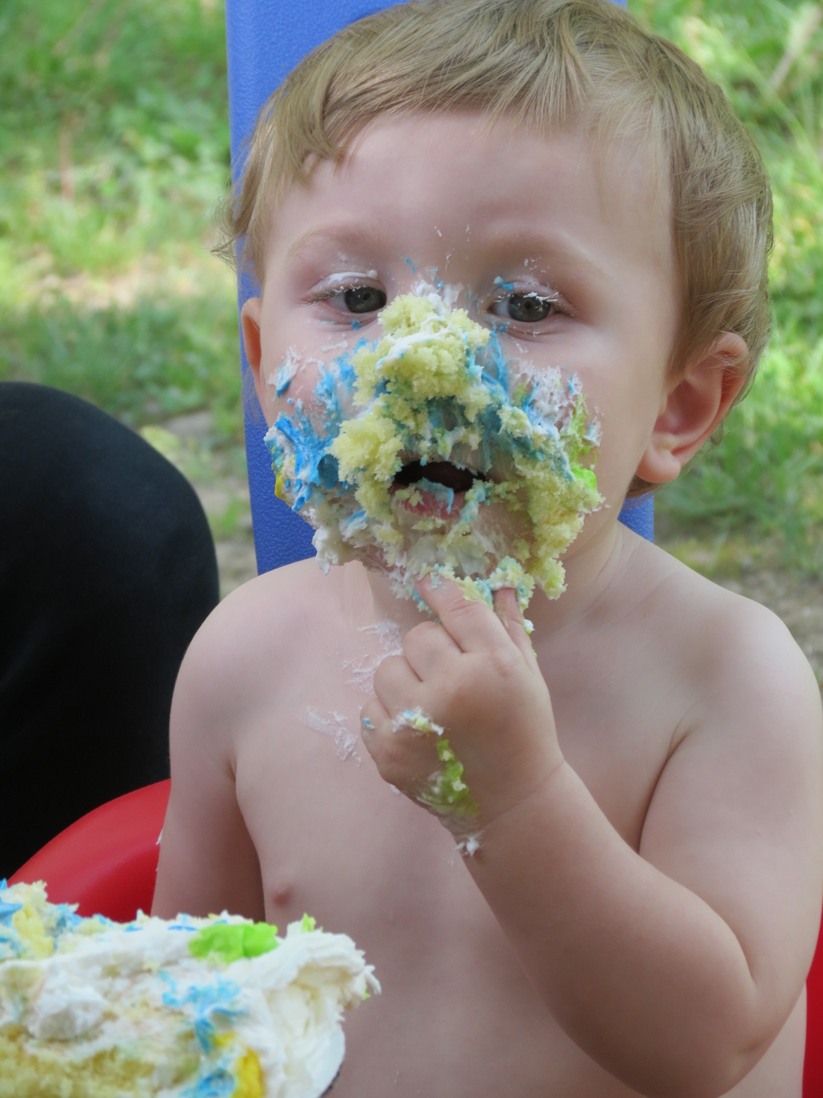 Camden really likes his cake!