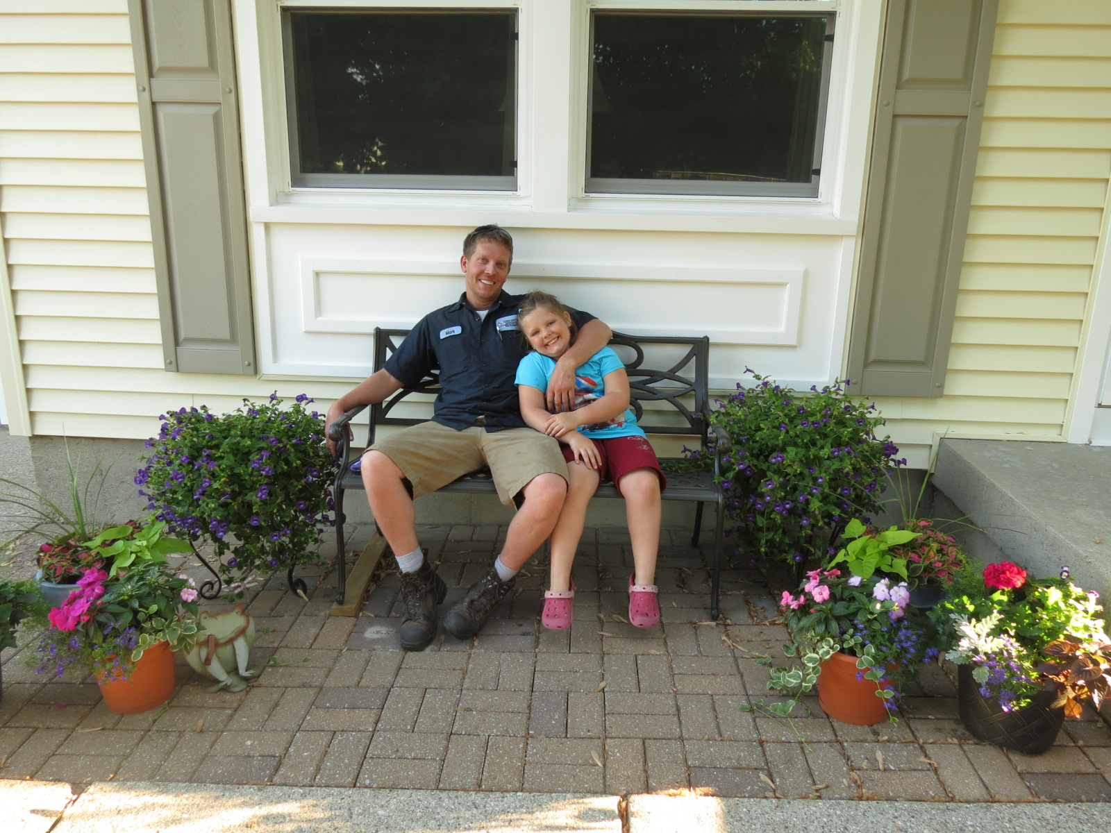 Nephew Mark & great niece, Neallie in Coopersville MI