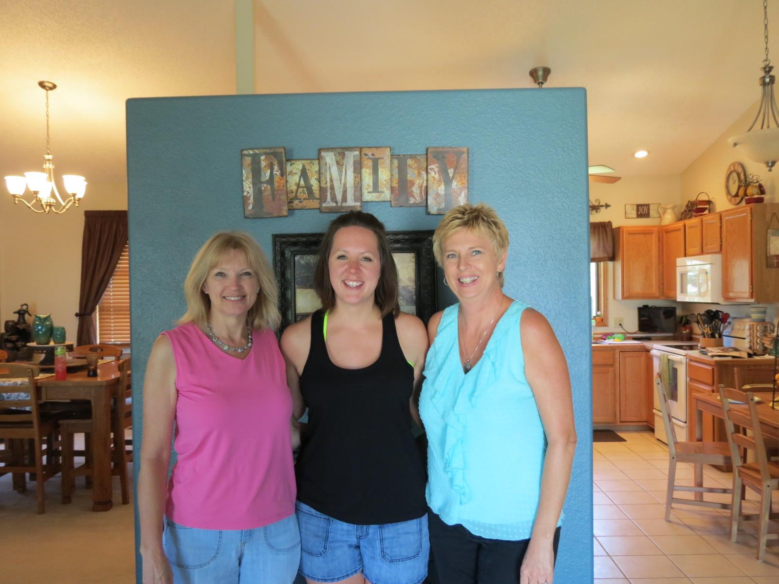 Susan, Mary & Carol at Mary's beautiful home.