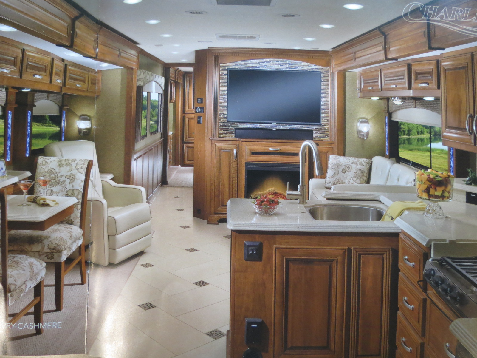 Inside our new RV