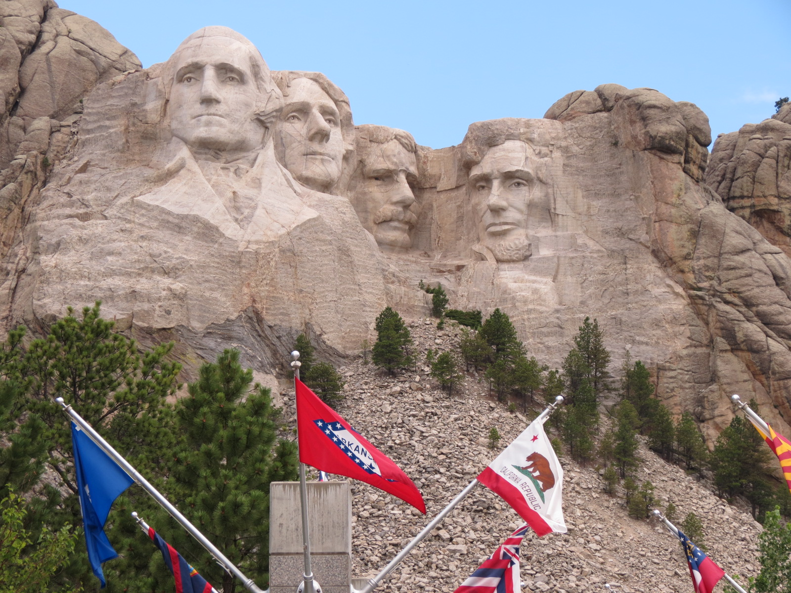 Mount Rushmore, had to capture the Arkansas Flag in the picture.