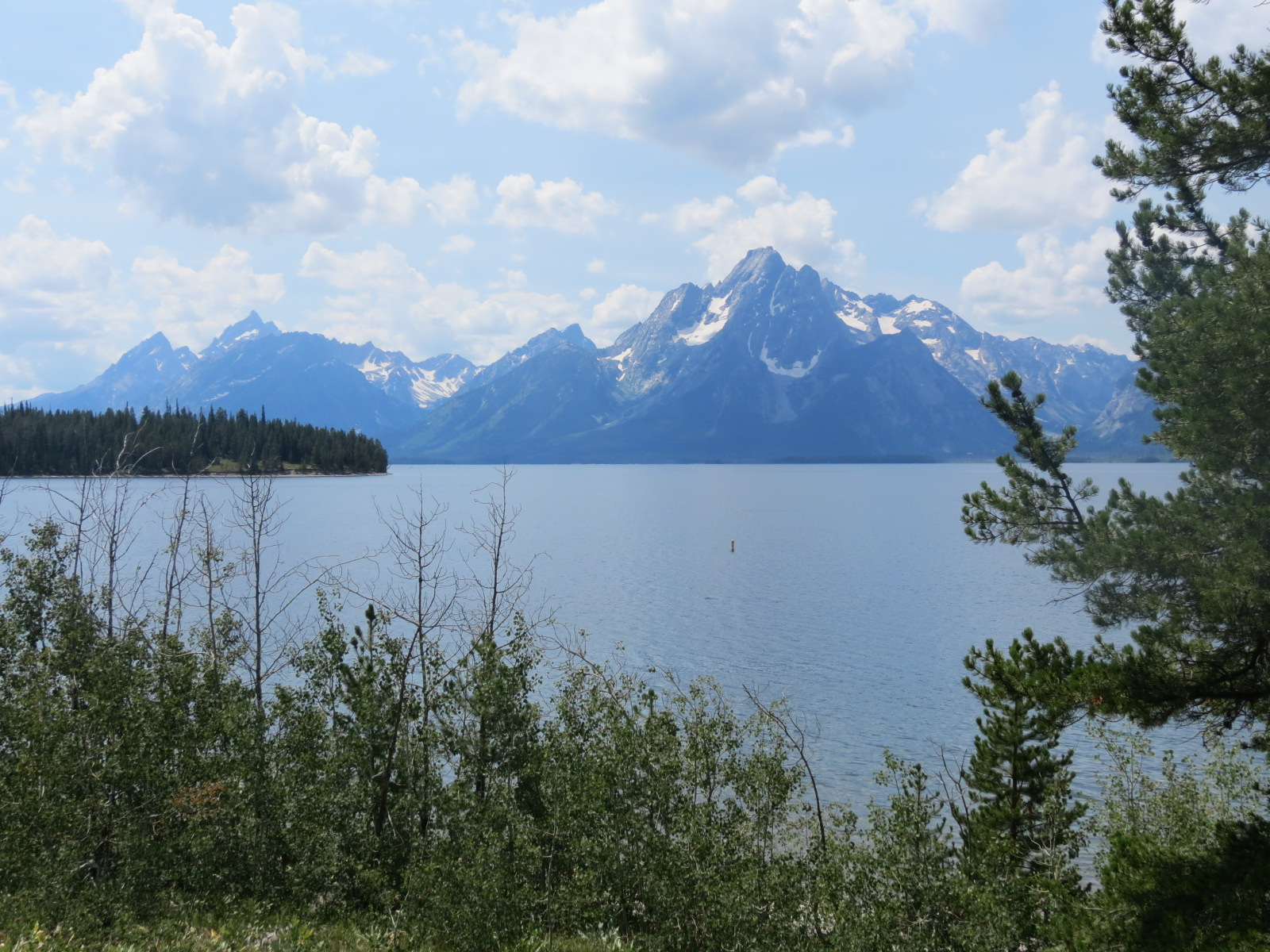 The Teton Mountains with snow in August!
