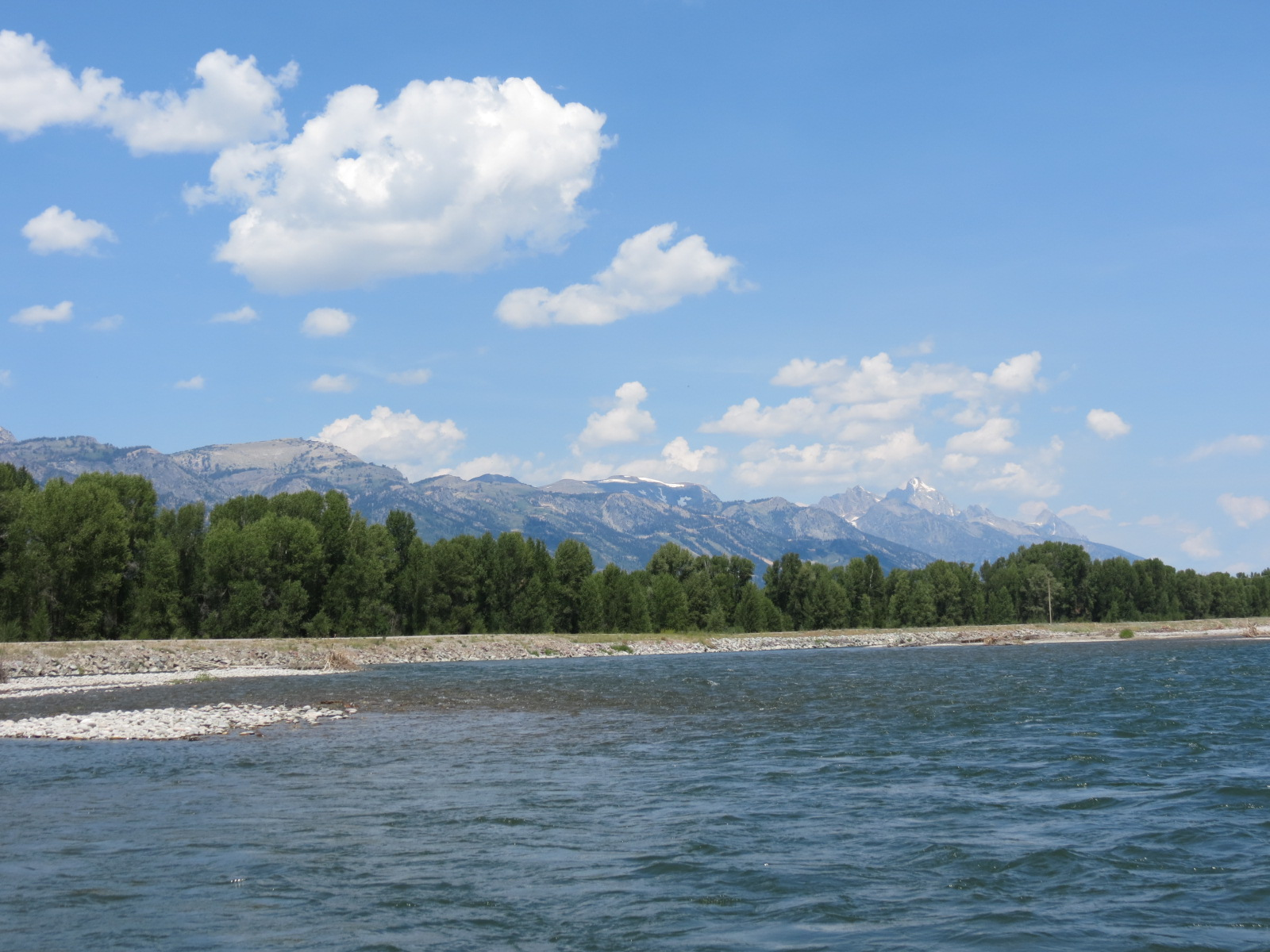 View of the Tetons from the Snake River