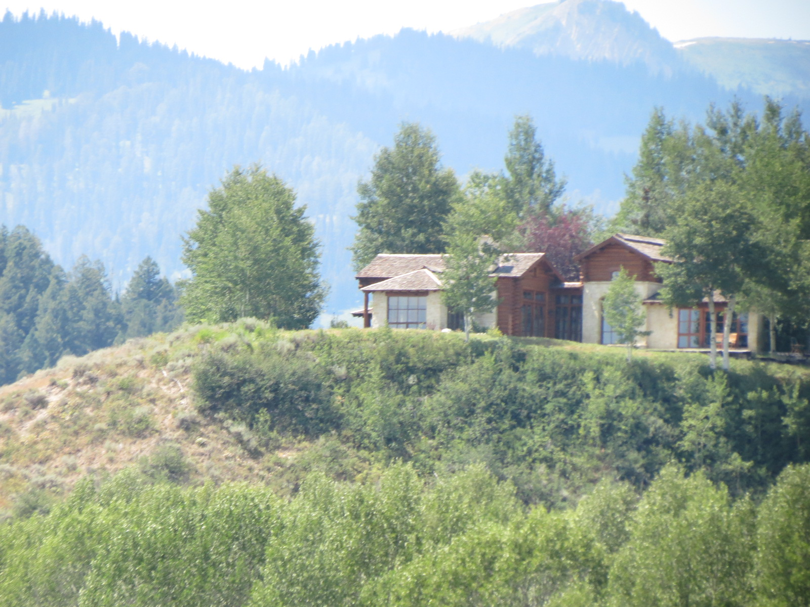 Sandra Bullock's house on the Snake River