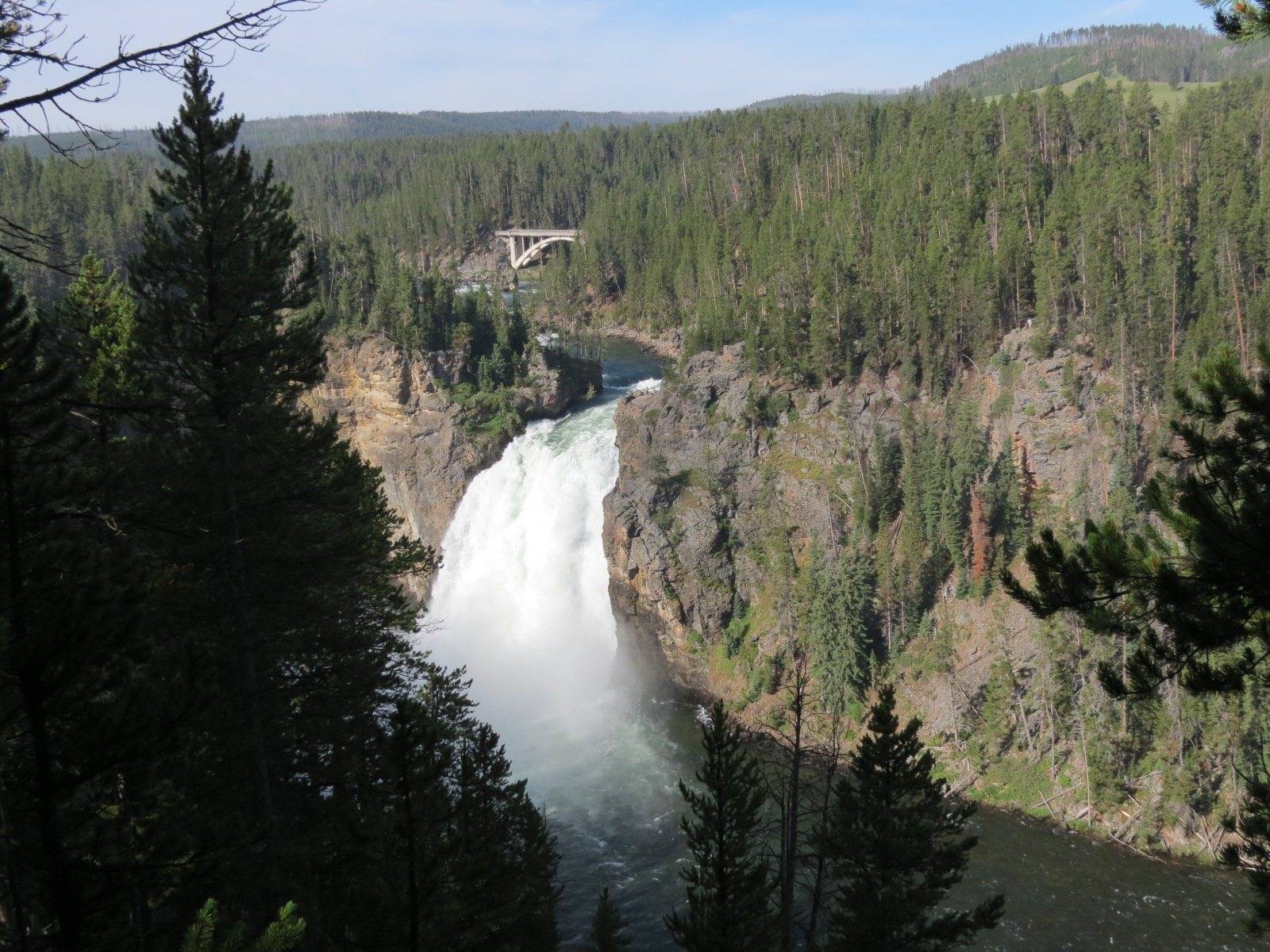 Upper Falls, Canyon Village area of Yellowstone