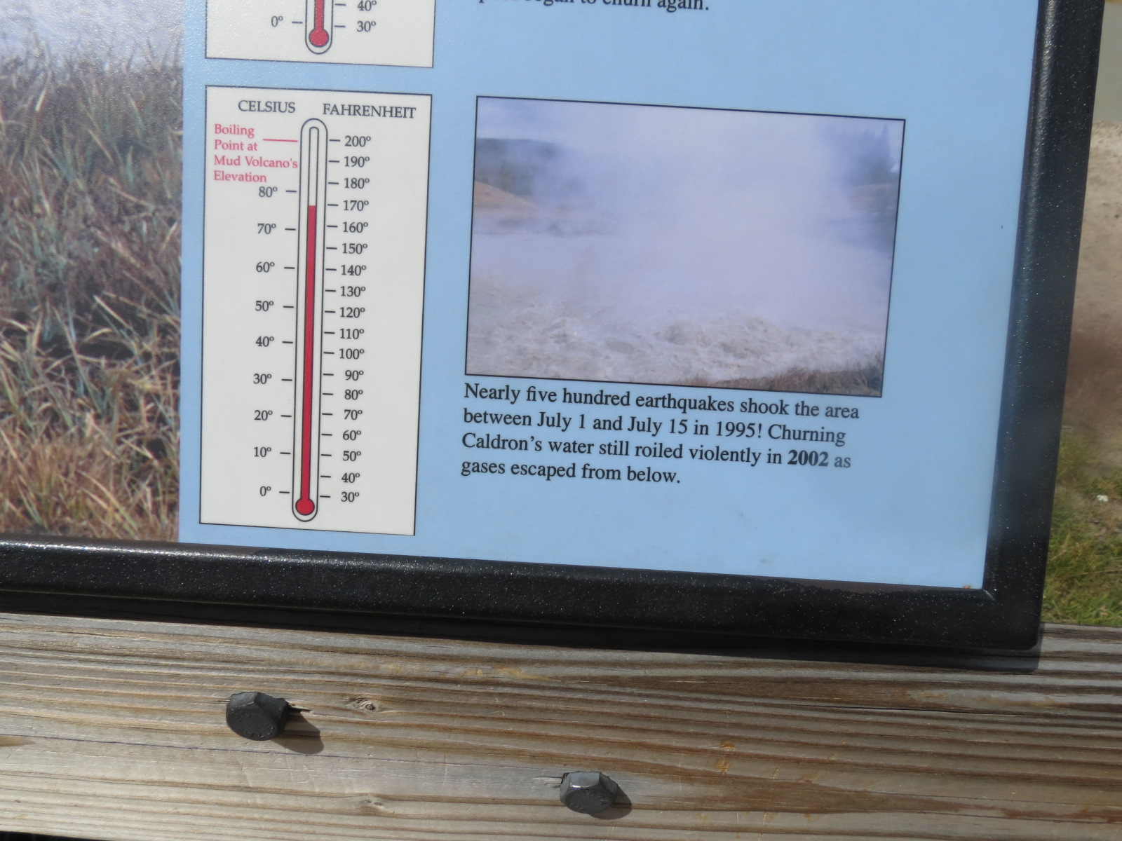 Sign at the Mud Volcano