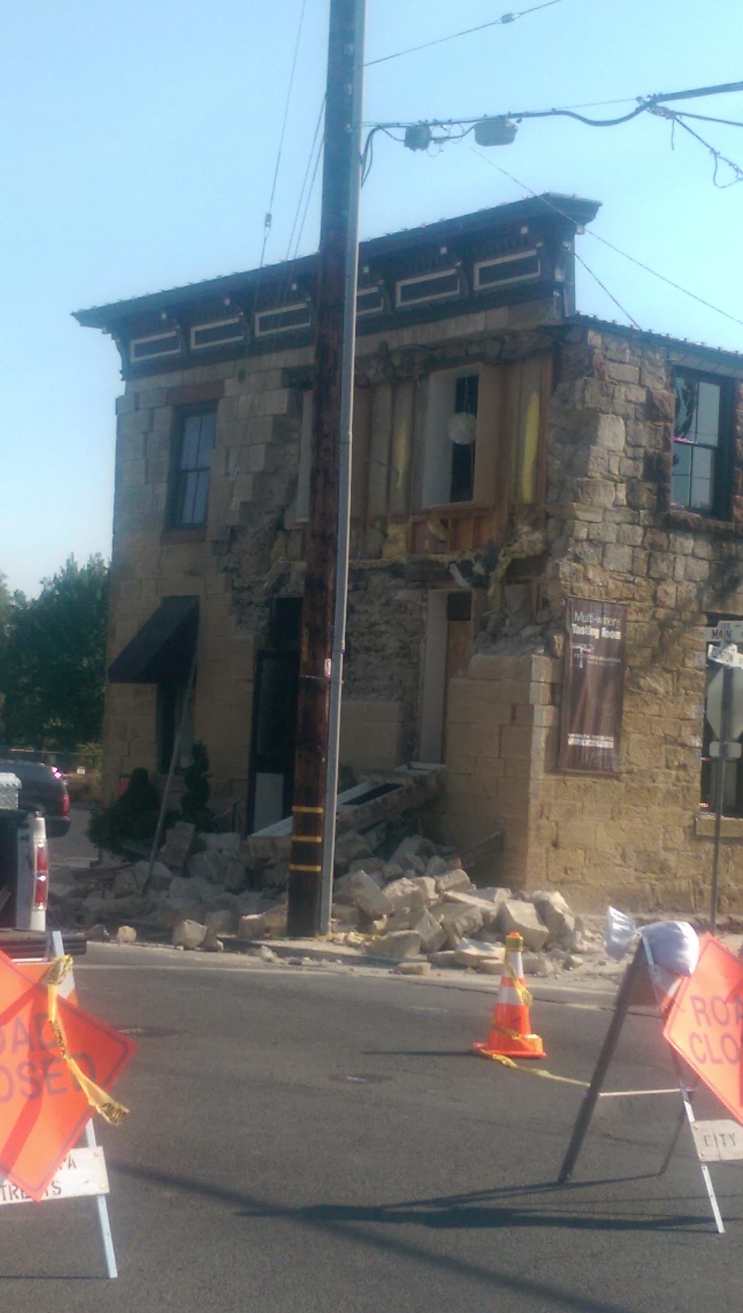 Napa, CA Earthquake damage