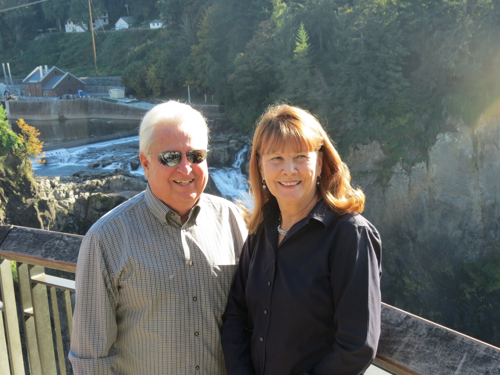 Gary & Debi at Snoqualmie Falls