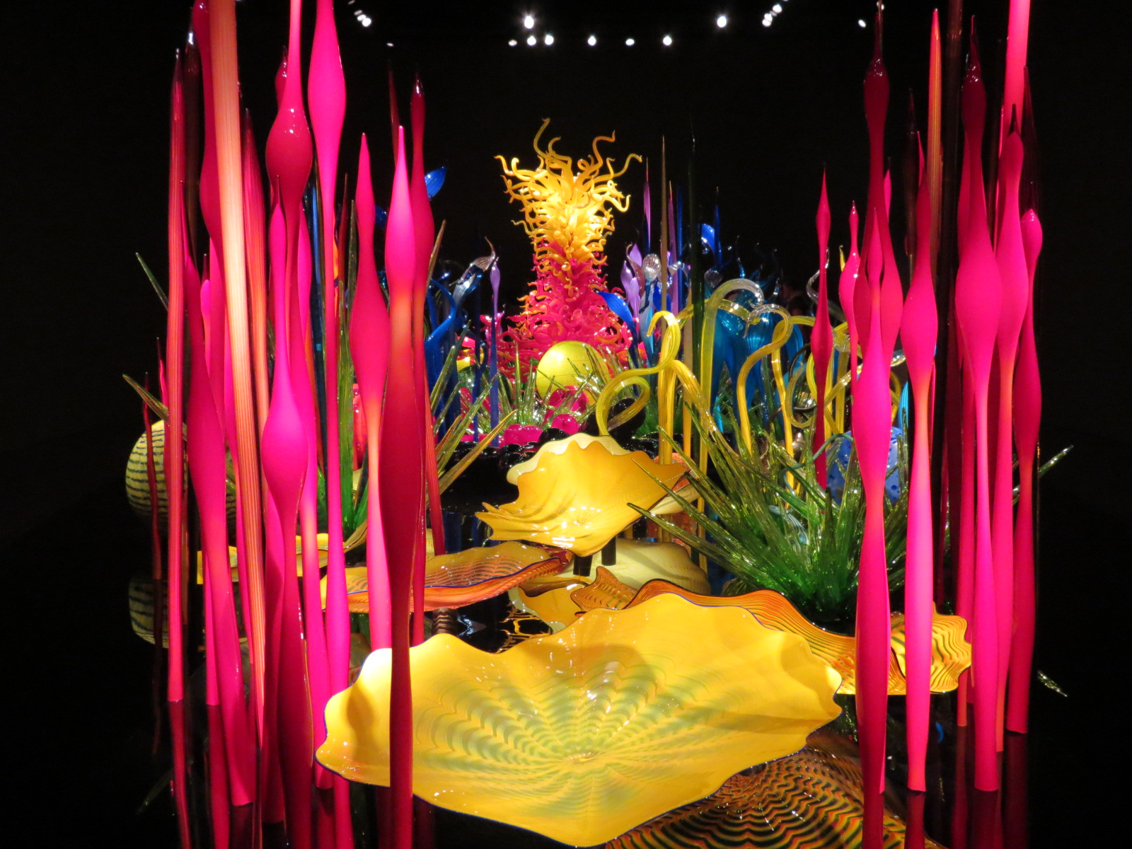 Chihuly's  Mille Fiori, blown glass exhibit
