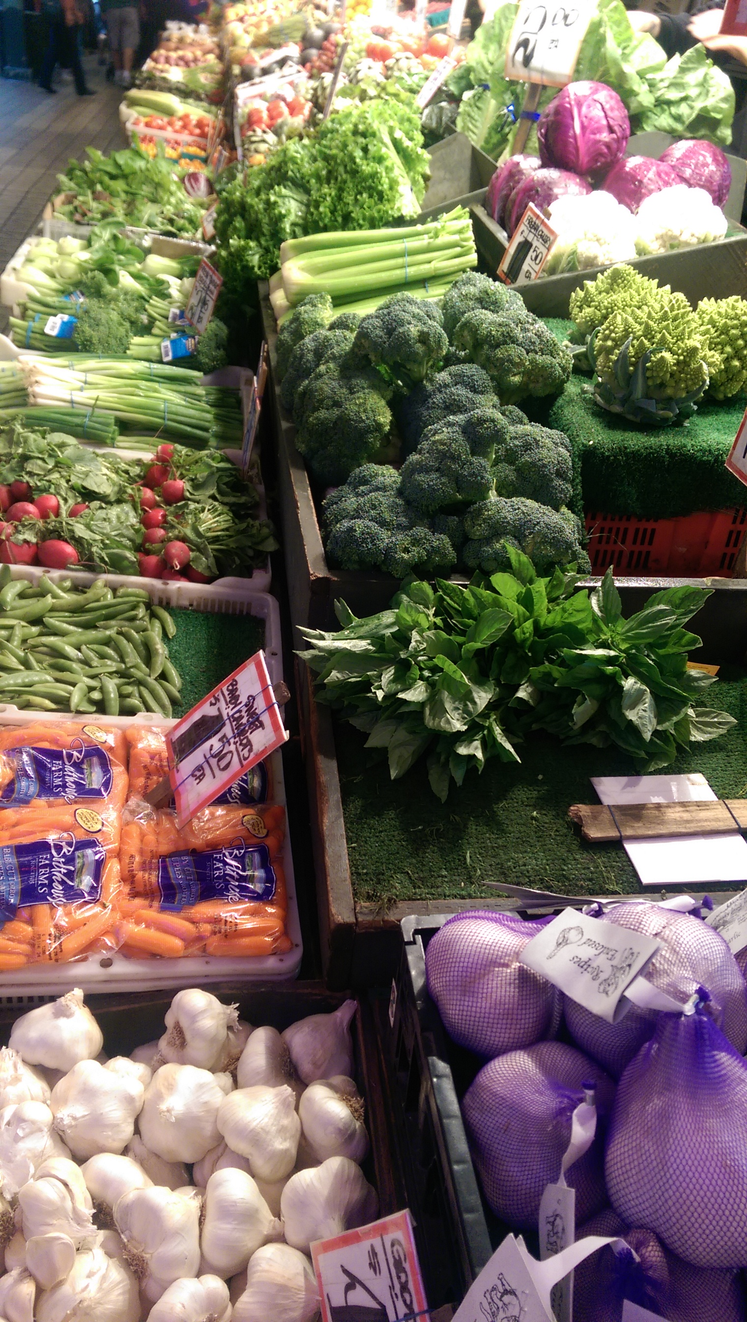 Fresh Vegetables at the Market Place