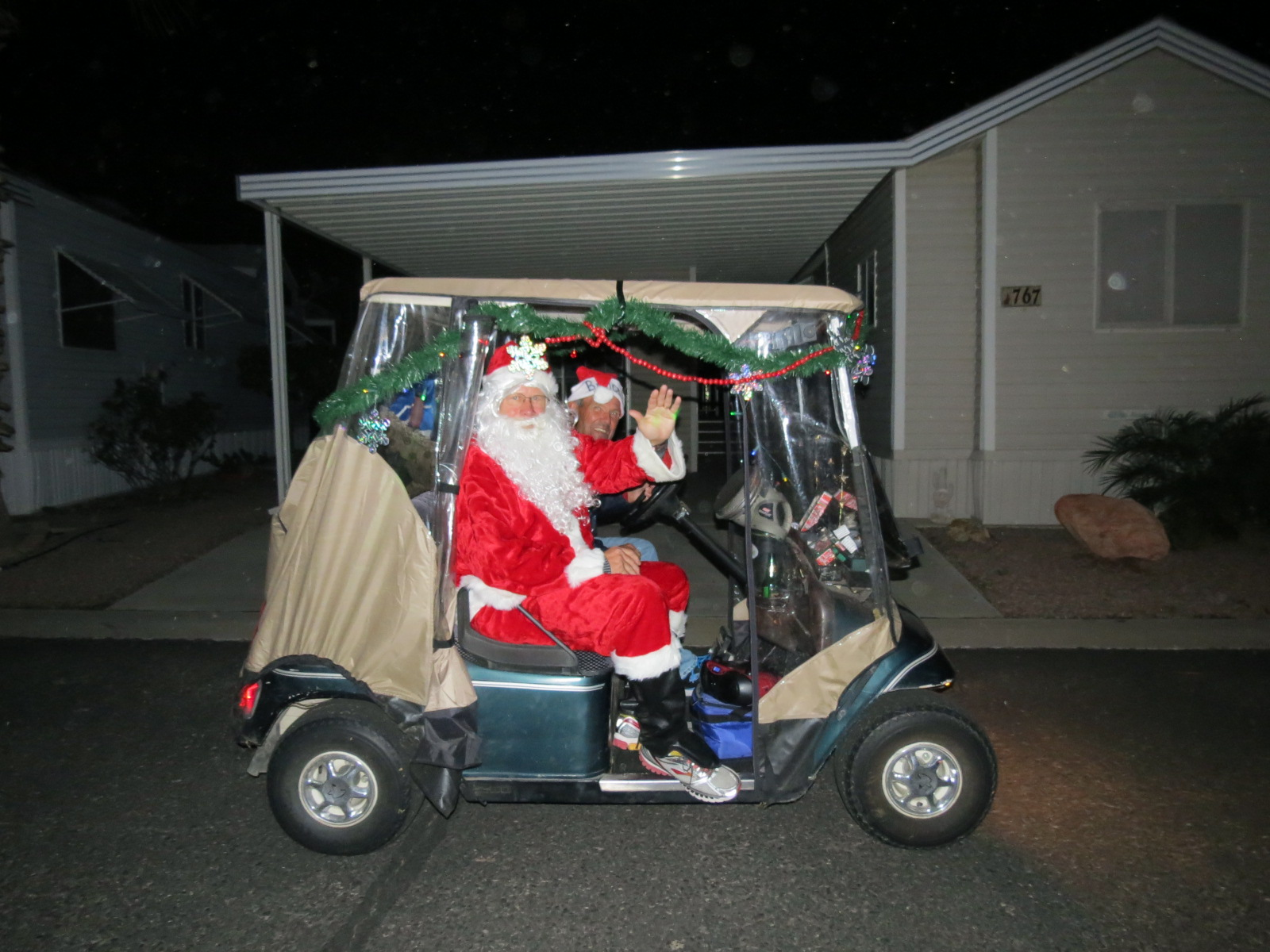 Santa in PEM parade