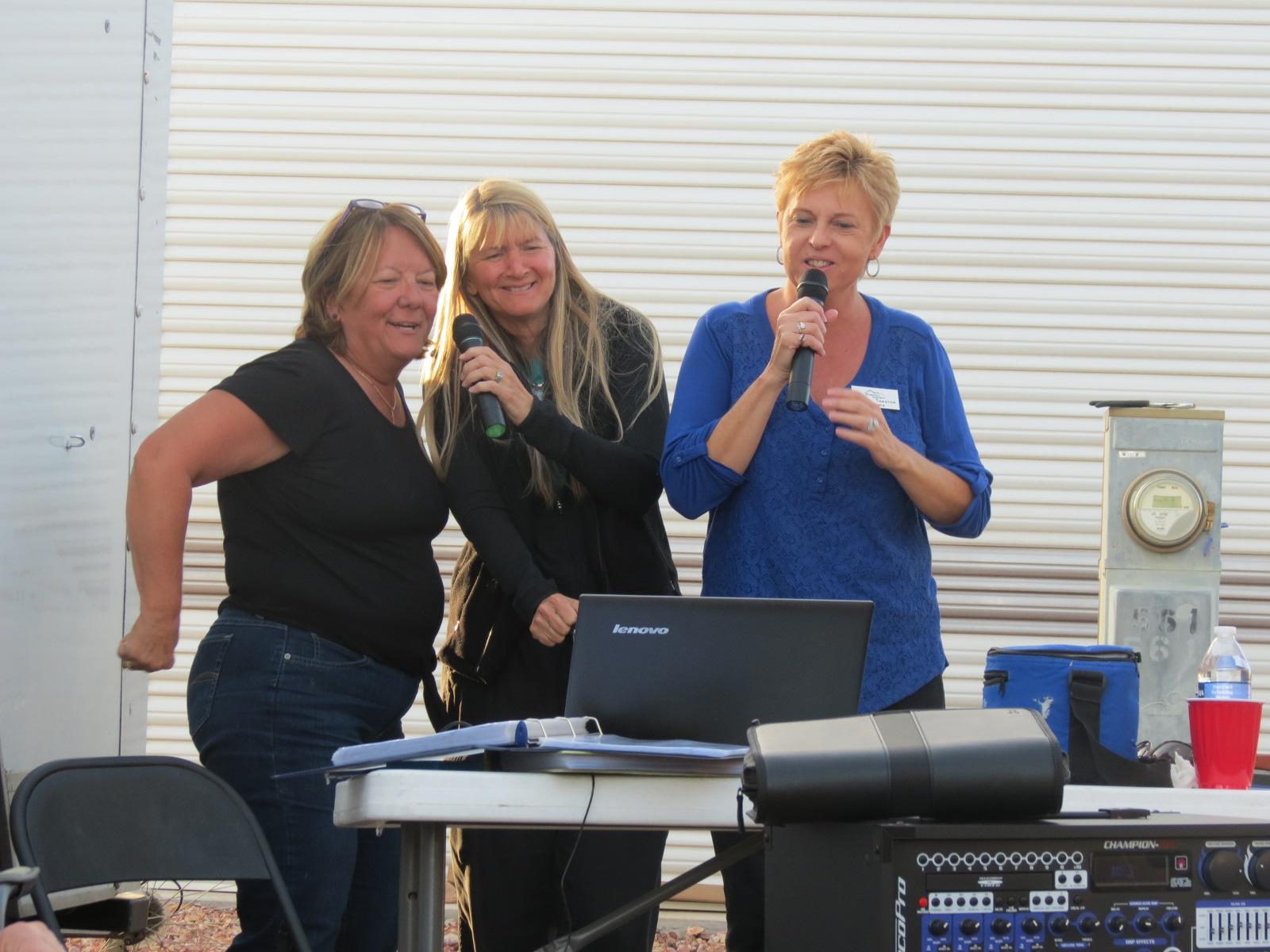 The Girls just having fun at Karaoke