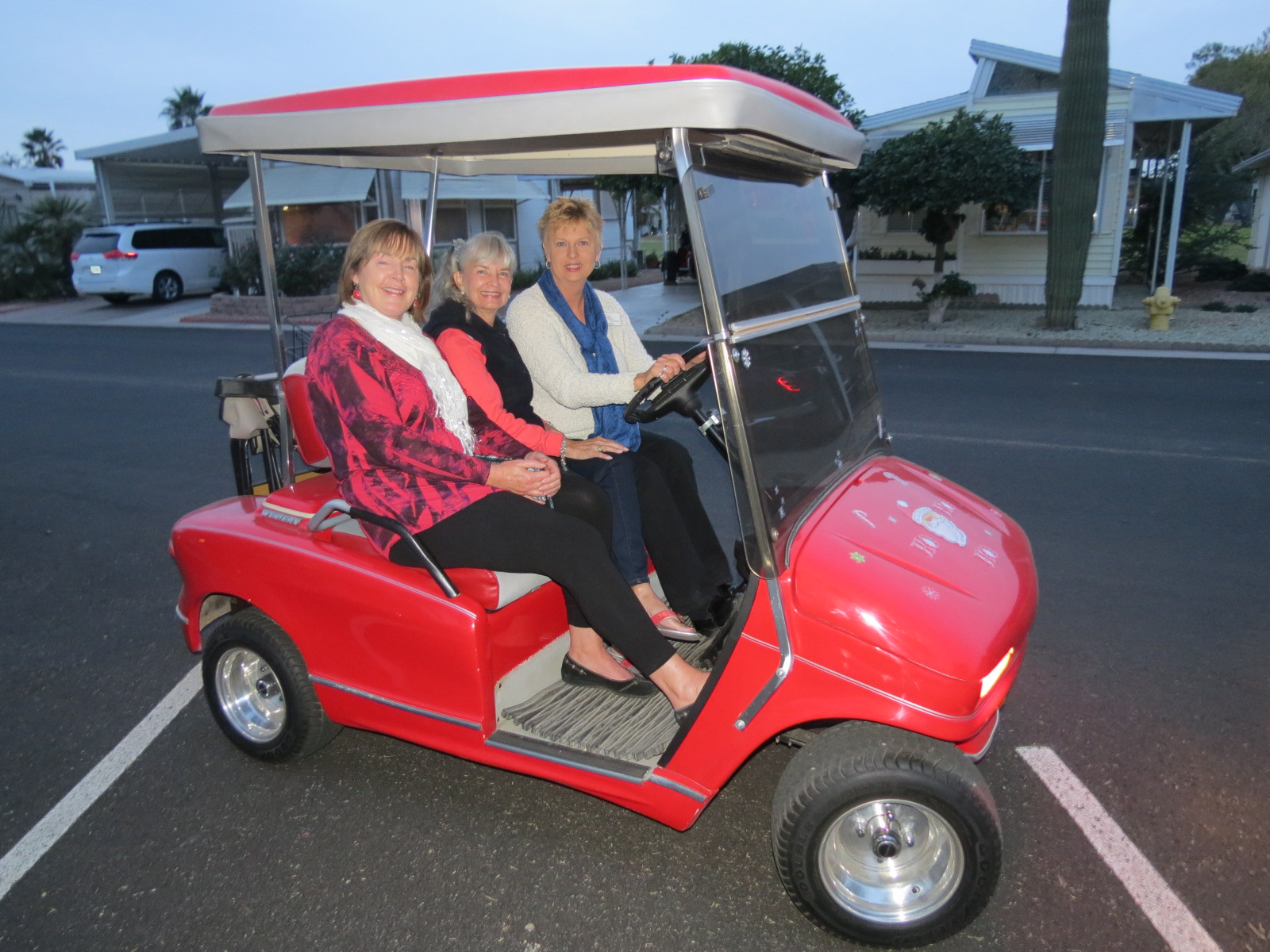 Karen, Jossie & Carol going to Christmas Lighting Event
