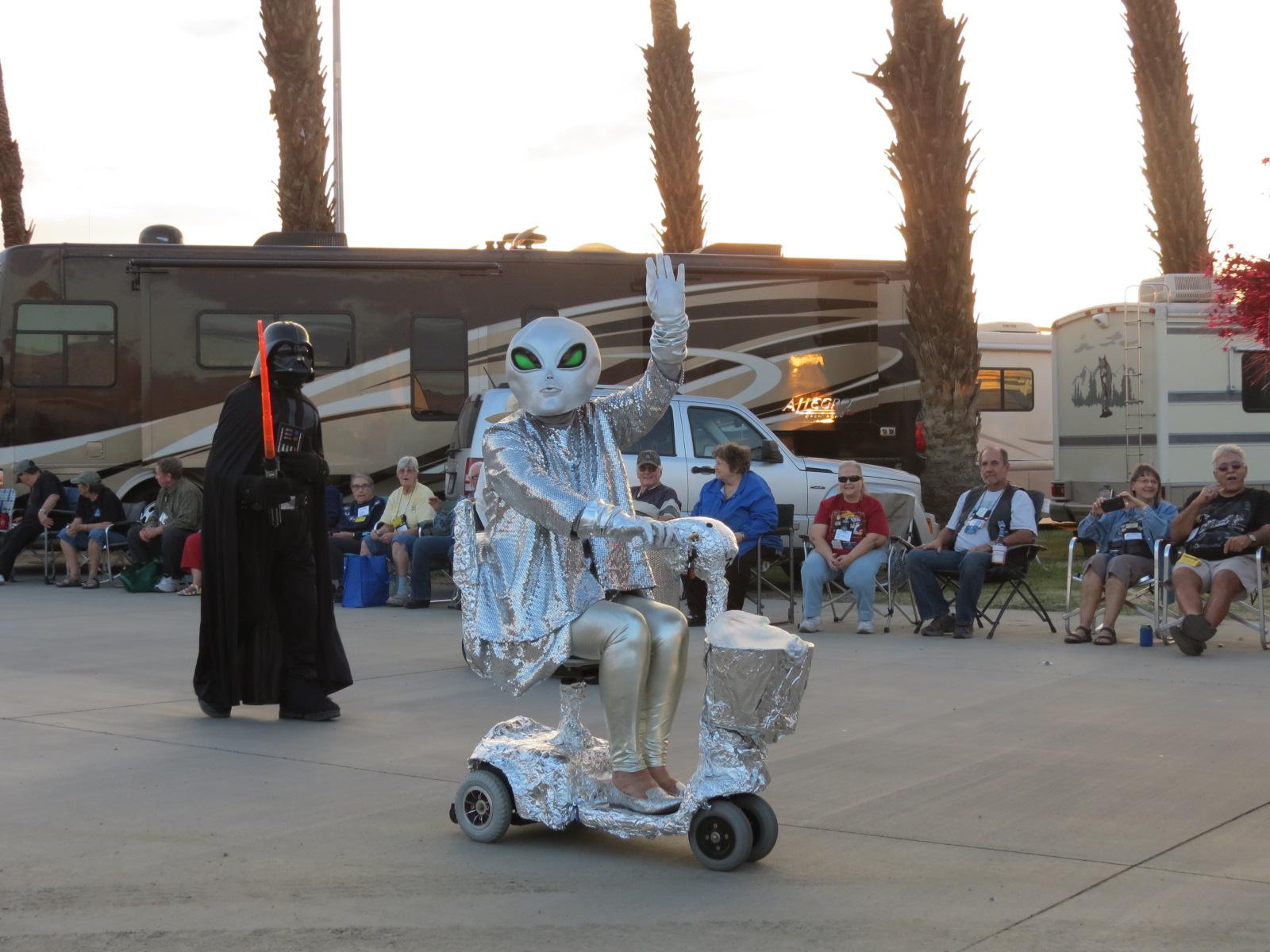 Aliens  invades Indio, CA RV Show